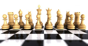 White chess game pieces Royalty Free Stock Images