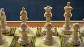 White chess game pieces stock footage