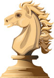White chess horse Stock Photography