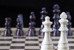 White Chess King And Queen Royalty Free Stock Images