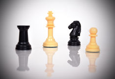 White Chess Kings Stock Photography