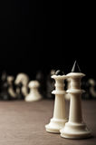 White chess kings and queen Stock Image