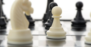White chess pawn Stock Photos