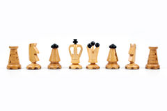White chess pawns Stock Photography