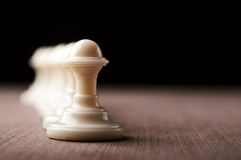 White chess pawns Stock Photos