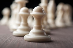 White chess pawns Stock Images