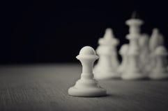 White chess pawns Stock Photos