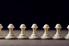 White chess pawns Stock Image