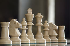 White chess pices Royalty Free Stock Photos