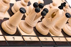 White chess pieces Stock Images