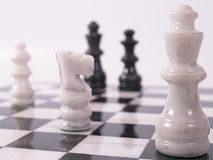 White Chess Pieces Stock Image