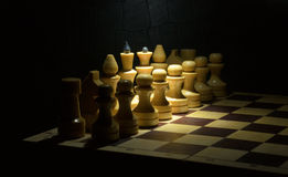 White chess pieces Royalty Free Stock Photos