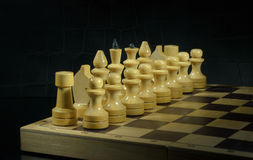 White chess pieces Royalty Free Stock Photo