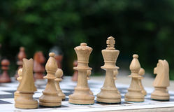 White chess pieces Stock Photo