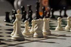 White chess pieces Royalty Free Stock Image