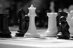White chess queen. A white queen stands ready for battle stock images