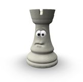 White chess rook Stock Photo