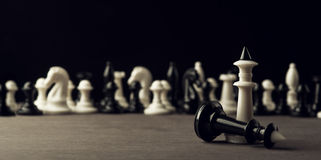White chess victory Stock Photography