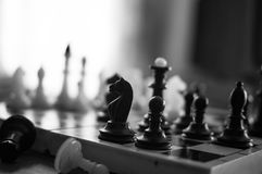 White chess victory again black Royalty Free Stock Photo