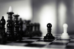 White chess victory again black Stock Image