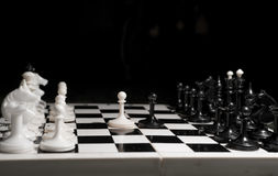 White chess victory again black Royalty Free Stock Image