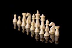 White chessman army Royalty Free Stock Photography