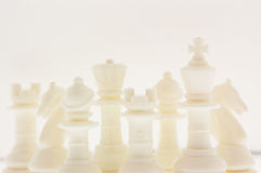 White chessmen Stock Images