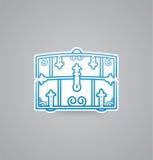 White chest icon on grey background. Vector illustration chest icon. eps10. royalty free illustration