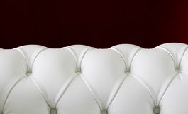 White chesterfield leather sofa Royalty Free Stock Photography