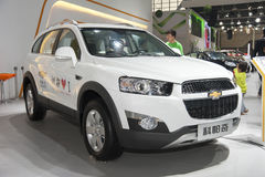 White chevrolet captiva car Royalty Free Stock Photos