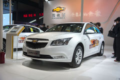 White chevrolet Cruze car Stock Photo