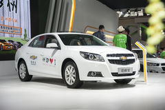 White chevrolet malibu car Royalty Free Stock Photos