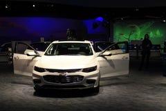 White Chevy sedan on display Royalty Free Stock Image