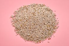 White chia seeds pile Royalty Free Stock Images