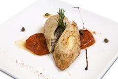 White Chicken steak Stock Image