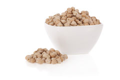 White chickpeas in a bowl isolated Royalty Free Stock Image