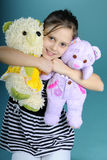 White child playing with toys Royalty Free Stock Photos