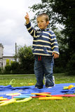 White child showing Royalty Free Stock Images