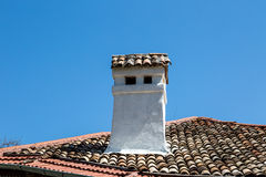 White Chimney Royalty Free Stock Images