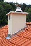 White chimney Royalty Free Stock Image