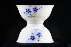 White china bowl. Closeup of white china bowl Stock Photo