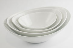 White china bowl Royalty Free Stock Images