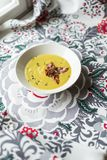 Jerusalem artichoke soup royalty free stock image