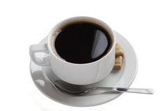 White china coffee cup Two Royalty Free Stock Images
