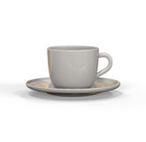 White china cup and saucer Royalty Free Stock Images