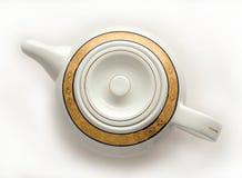 White china teapot. Royalty Free Stock Photography