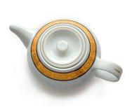 White china teapot. Royalty Free Stock Photo