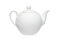 White china teapot. Royalty Free Stock Photos