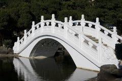 White Chinese Bridge Royalty Free Stock Images