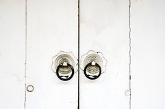 White chinese door Royalty Free Stock Images